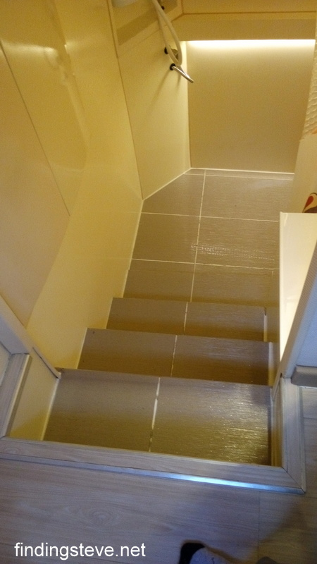 Stairs to toilet / wash room.