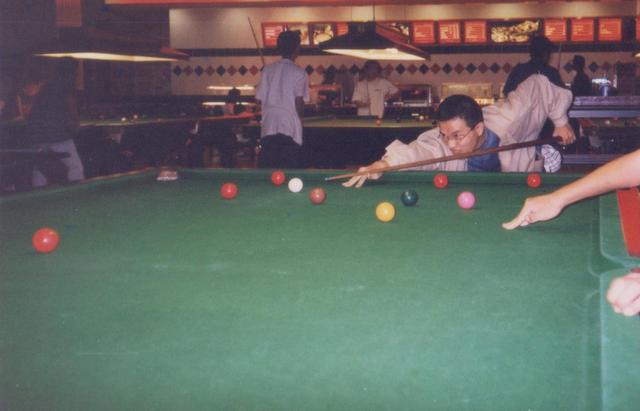 Already a snooker kaki back then